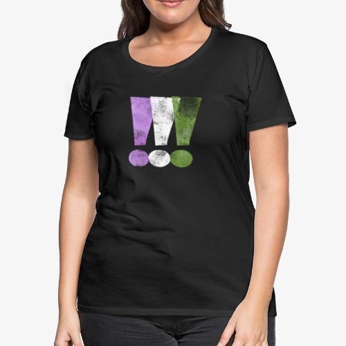 Genderqueer Pride Exclamation Points - Women's Premium T-Shirt