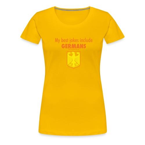 16 Germans colored lettering - Women's Premium T-Shirt