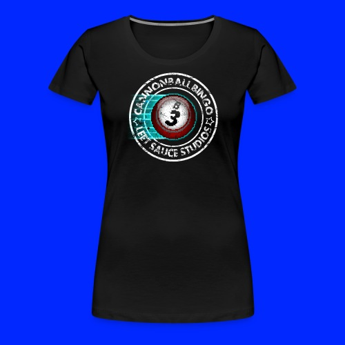 Vintage Cannonball Bingo 8-Bit Ball Tee - Women's Premium T-Shirt