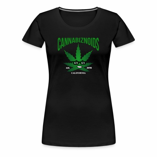 Cannabiznoids Logo with Text - Women's Premium T-Shirt