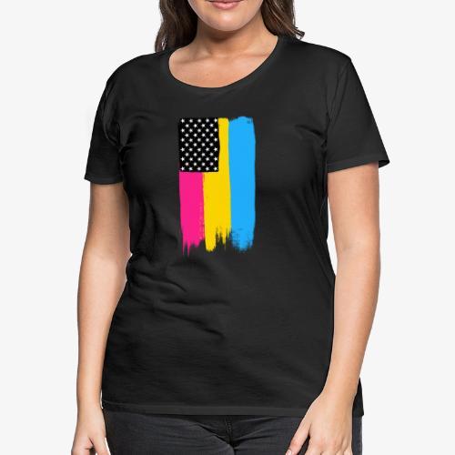 Pansexual Pride Stars and Stripes - Women's Premium T-Shirt