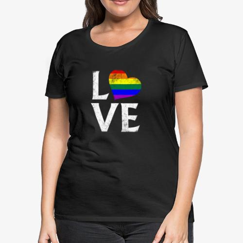 LGBTQ Pride Stacked Love - Women's Premium T-Shirt