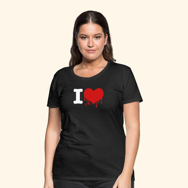 I Love Heart  Red Squirrels Ladies Fitted T-Shirt