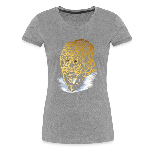 Golden Snow Tiger - Women's Premium T-Shirt