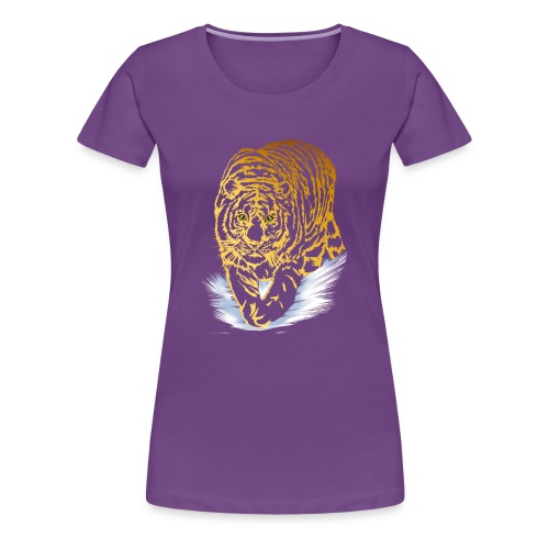 Golden Snow Tiger - Women's Premium T-Shirt