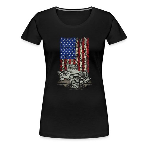 Jeep American Flag - Women's Premium T-Shirt