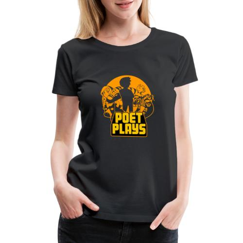 Poet Plays RETRO - Women's Premium T-Shirt