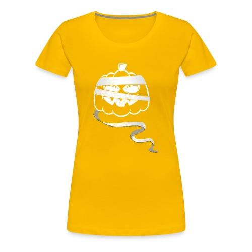 Halloween Bandaged Pumpkin - Women's Premium T-Shirt