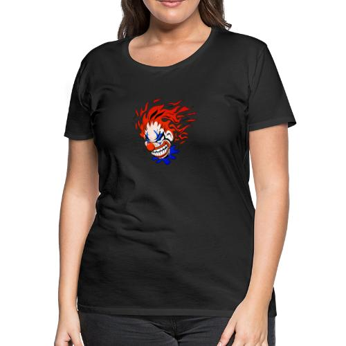 Psycho Crazy Clown Cartoon - Women's Premium T-Shirt