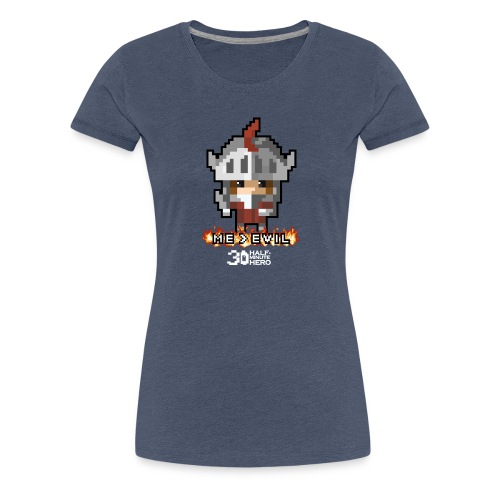 Knight ME v EVIL (White logo) - Women's Premium T-Shirt