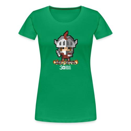 Knight ME v EVIL (White logo) - Women's Premium T-Shirt