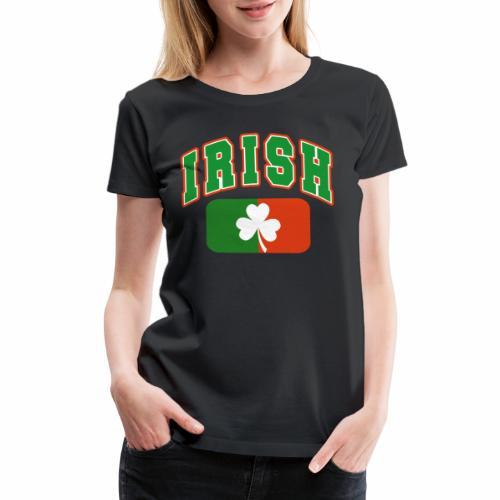 Vintage Irish Flag Shirt St Patricks Day Shamrock - Women's Premium T-Shirt