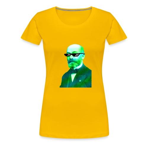 Green and Blue Zamenhof - Women's Premium T-Shirt