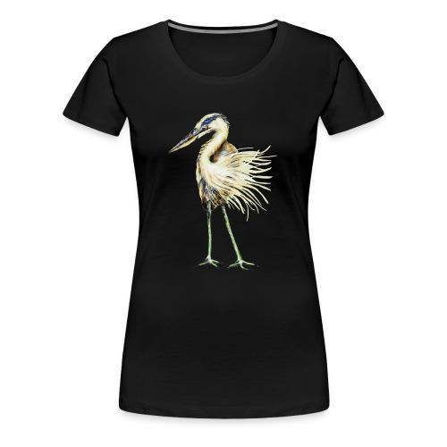 Great Blue Heron - Women's Premium T-Shirt
