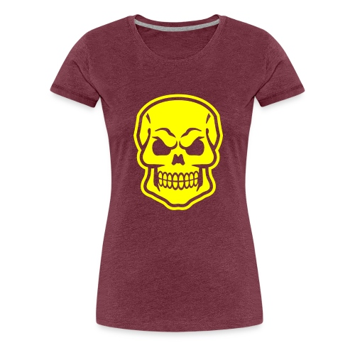 Skull vector yellow - Women's Premium T-Shirt