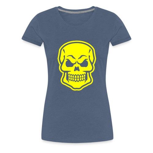 Skull vector yellow - Women's Premium T-Shirt