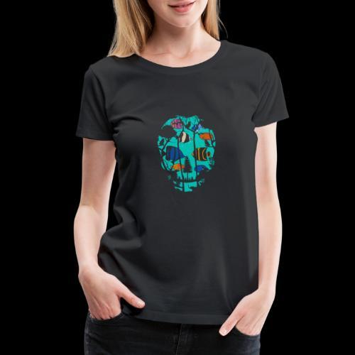 Underwater Skull - Women's Premium T-Shirt