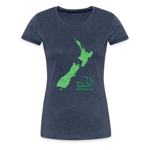 New Zealand's Map - Women's Premium T-Shirt