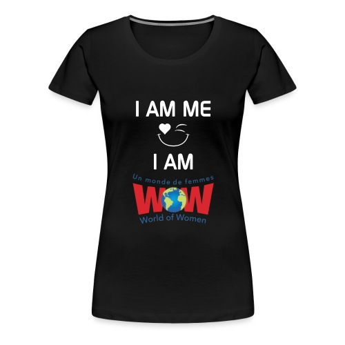 IamMeIamWowLogoWhiteBigge - Women's Premium T-Shirt