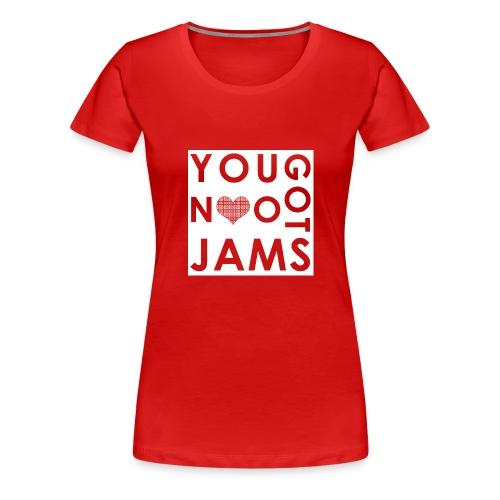 NO JAMS White Cutout - Women's Premium T-Shirt