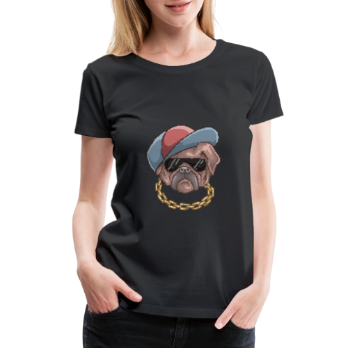 Pug Life | Funny Animal Pixel Art - Women's Premium T-Shirt