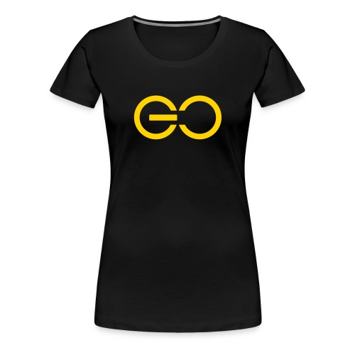 GO logo big - Women's Premium T-Shirt