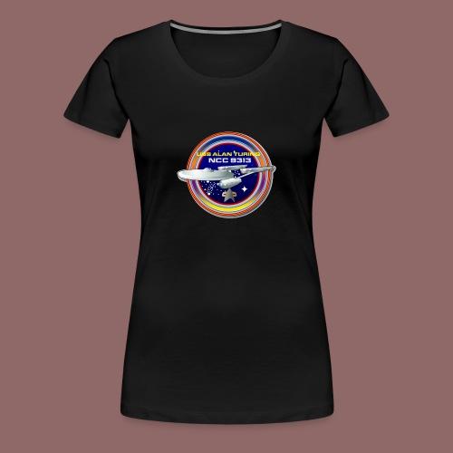 Alan Turing Ship Patch - Women's Premium T-Shirt