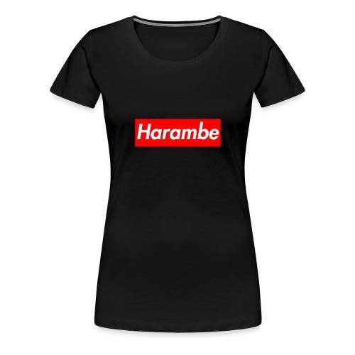 Harambe x Supreme Box Logo - Women's Premium T-Shirt