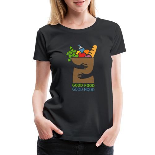 Good Food Good Mood | Minimal Colorful Food Design - Women's Premium T-Shirt