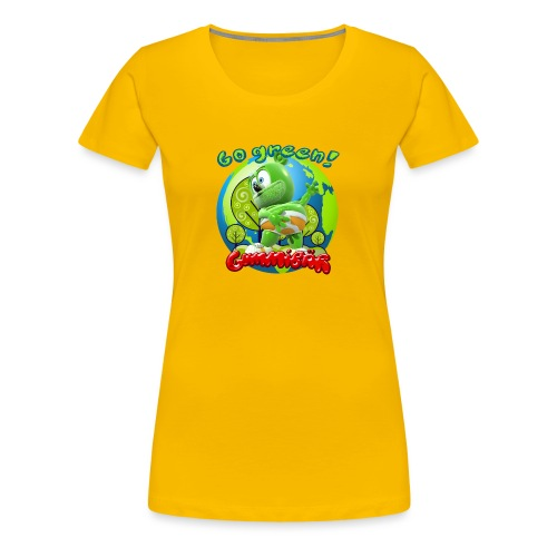 Gummibär Go Green Earth Day Earth - Women's Premium T-Shirt