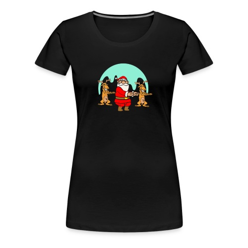 The Dance Of Santa Claus Merry Christmas - Women's Premium T-Shirt