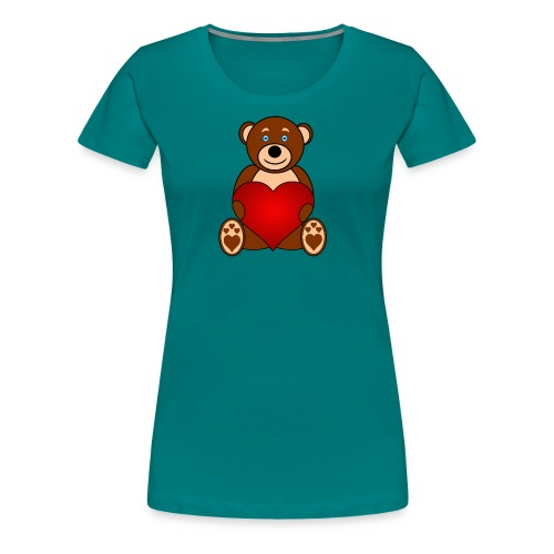 Baer - Alone or with text for figurative words - Women's Premium T-Shirt