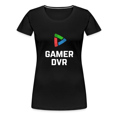 Gamer DVR Vertical White - Women's Premium T-Shirt
