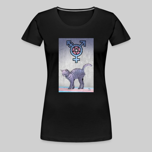 Trans Satanic Cat - Women's Premium T-Shirt