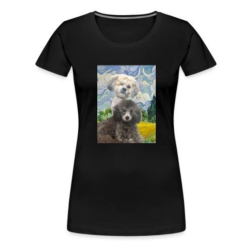 Morty and Wonton - Dogs of Modern Art - Women's Premium T-Shirt