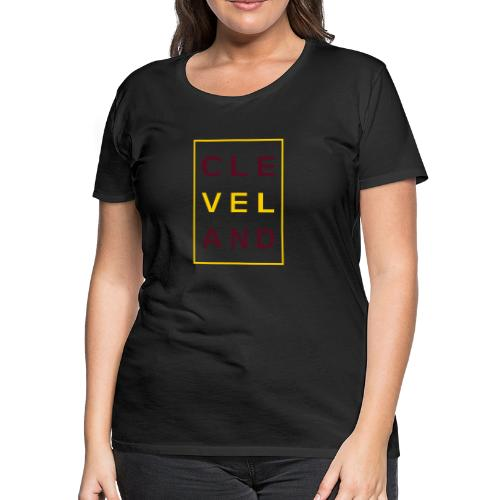 Cleveland Typography - Women's Premium T-Shirt