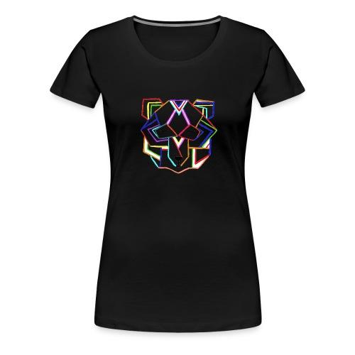 art deco bear face - Women's Premium T-Shirt