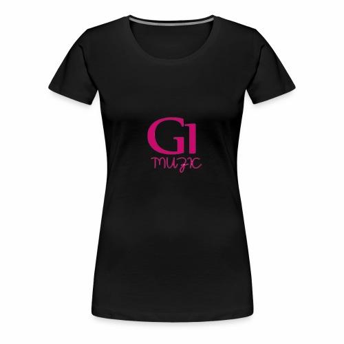 Pink G1 Muzic - Women's Premium T-Shirt