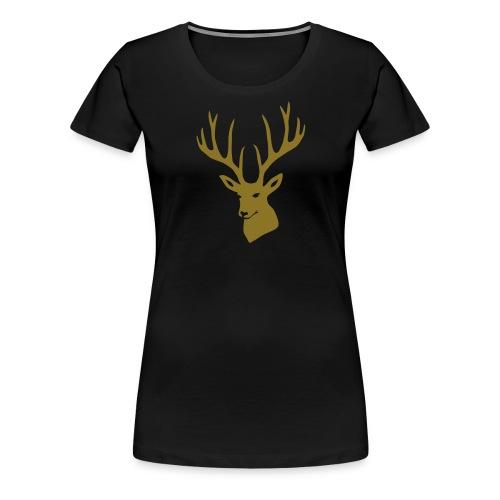 stag night deer buck antler hart cervine elk - Women's Premium T-Shirt