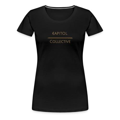 Capitol Collective (gold writing) - Women's Premium T-Shirt