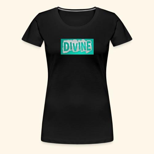 DIVINE - BLUE STICK LOGO - - Women's Premium T-Shirt