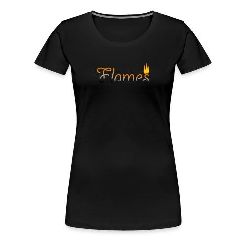 Flames - Women's Premium T-Shirt