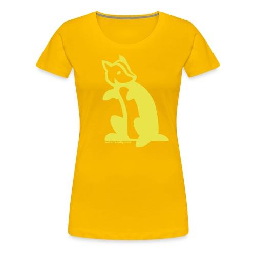 Not Literally Hufflepuff Logo Large - Women's Premium T-Shirt