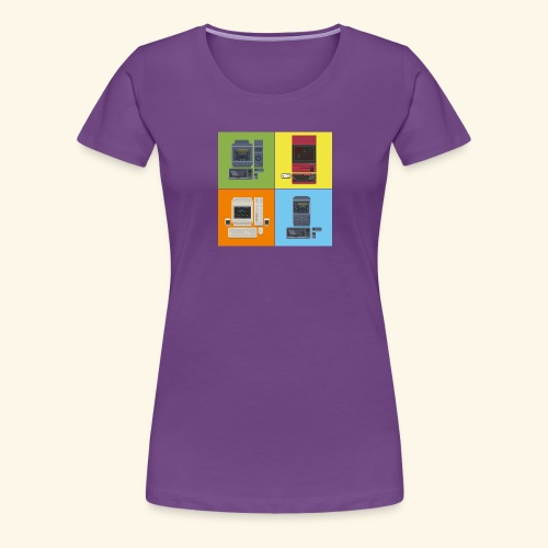 japanese computers color - Women's Premium T-Shirt