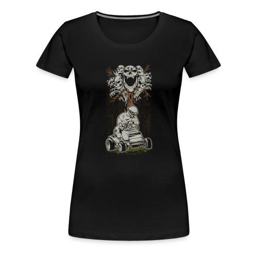 Lawnmower Skull Tree - Women's Premium T-Shirt