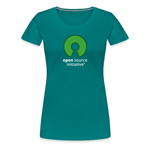 osi_logotype_color_to_whi - Women's Premium T-Shirt