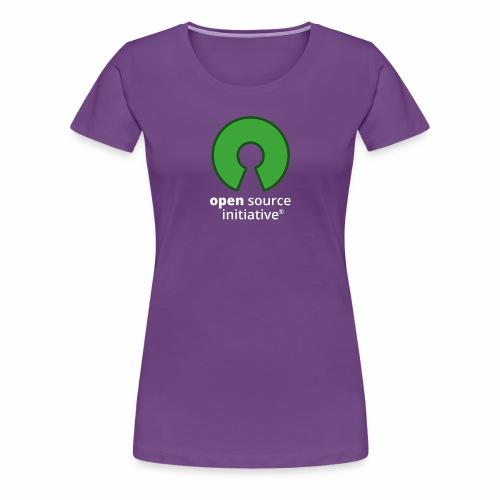 osi_logotype_color_to_whi - Women's Premium T-Shirt