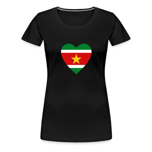 Suriname Flag Heart - Women's Premium T-Shirt