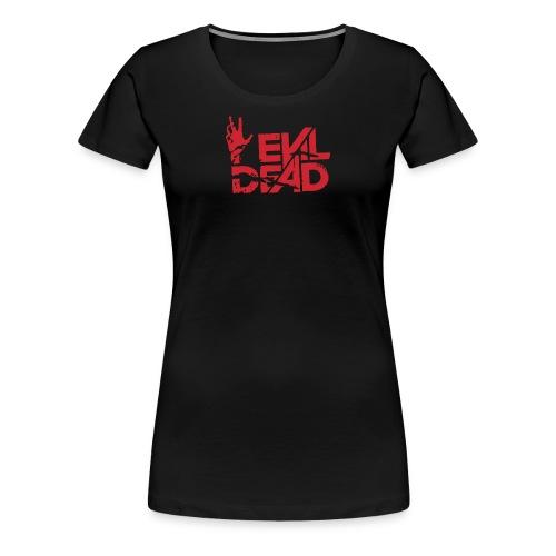 Evil Of Dead Logo Funny - Women's Premium T-Shirt