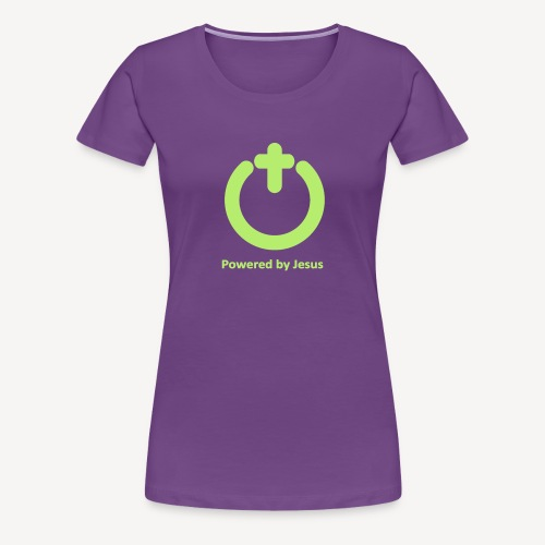 POWERED BY JESUS - Women's Premium T-Shirt